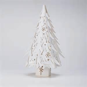 medium white lasercut paper christmas trees