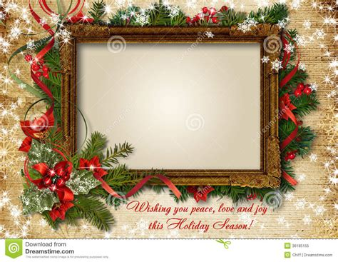 vintage shristmas card  frame  photo  text