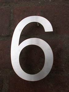 Edelstahl Rundstahl 6 Mm : hausnummer 6 aus 3 mm edelstahl gelasert ~ Orissabook.com Haus und Dekorationen