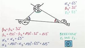 Geometrie Winkel Berechnen : winkel an geradenkreuzungen berechnen mathematik online lernen ~ Themetempest.com Abrechnung