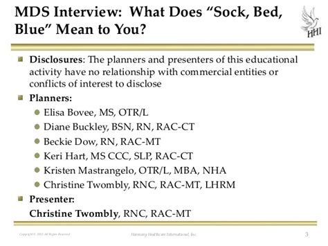what does extensive experience mean mds interviews what does quot sock bed blue quot mean to you
