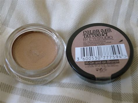 maybelline colour tattoo  hour eyeshadow review beauty