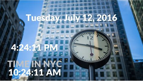 Powerpoint Clock With Date & Time Display • Presentationpoint