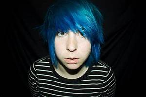 blue, blue hair, boy, emo boy, gorgeous - image #29247 on ...
