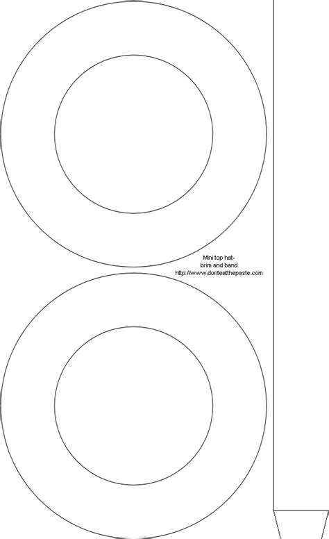 top hat template don t eat the paste printable mini mad hatter top hat with template