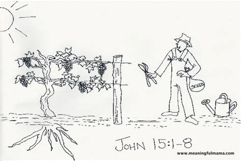 Jesus Vine And Branches Coloring Pages Page