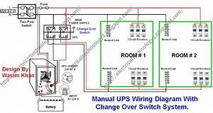 Manual  U0026 Auto Ups    Inverter Wiring Diagram With
