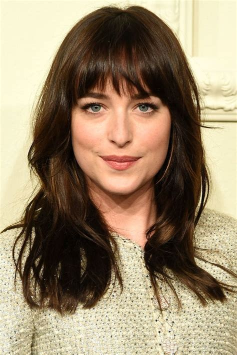 Best Fringes Bangs With Medium Hair Long Hair With