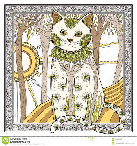 elegant magic cat stock vector image