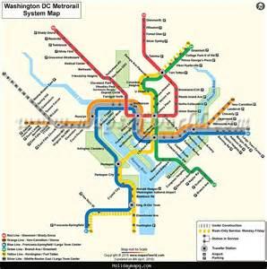 Washington DC Metro Subway Map