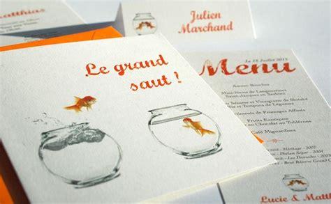 le miffy grand modele le grand saut faire part de mariage faire part original poisson couleur orange bleu avec
