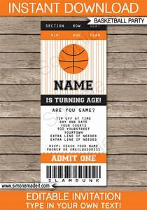 Basketball Ticket Invitation Template | Basketball Invitations
