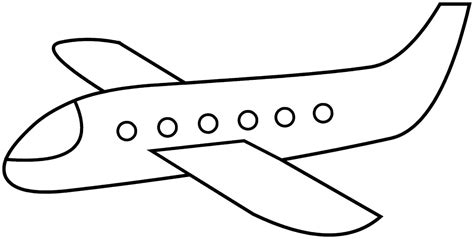 simple airplane coloring pages google search face