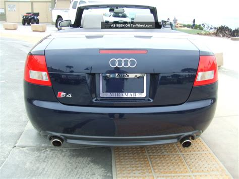 2006 Audi S4 Cabriolet Convertible 2 Door 4 2l