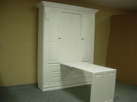 White Murphy Bed by White Smithsonian Murphy Bed W Desk Custom By Chris