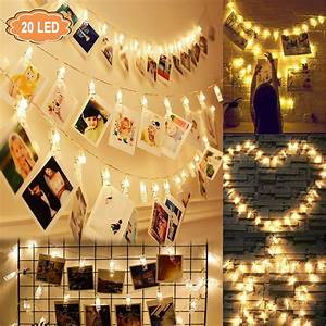 Eeekit, 40, 20led, Photo, Clip, String, Lights, Led, Battery, Operated, Starry, Fairy, Copper, String, Lights