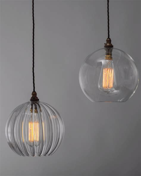 pendant lighting ideas modern design large glass globe