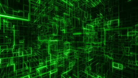 Digital Wallpaper Green by Flying Inside Computer World Stock Footage 4379249