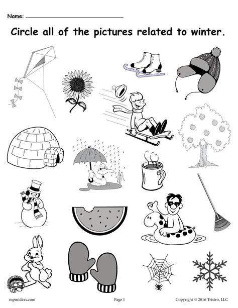 circle what belongs free printable winter worksheet 111 | Circle what 20belongs winter 20worksheet 1024x1024