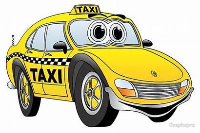 Taxi Clipart Cab Cartoon Taxis Clip Cabs