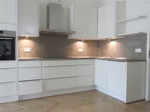 Arbeitsplatte Küche Beton : beton unique beton cire betonk che r ckwand ~ Watch28wear.com Haus und Dekorationen
