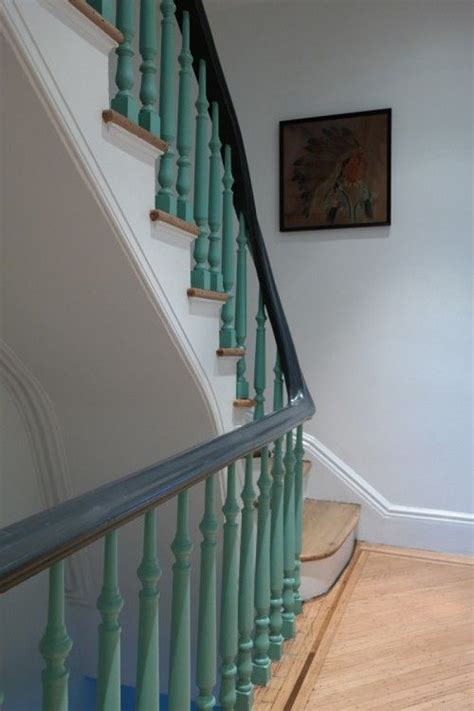 painted banisters 25 best ideas about painted stair railings on