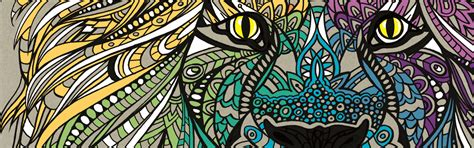 colour therapy  anti stress colouring book  pattern