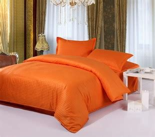 solid orange satin striped bedding sets queen full size