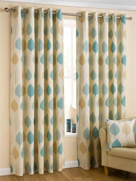 modern leaf eyelet lined curtains ring top curtain pair