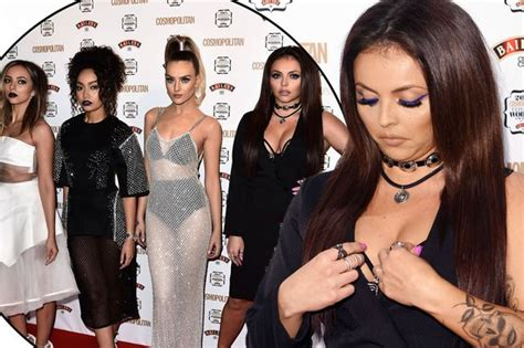 Jesy Nelson struggles to contain her boobs as Little Mix ...