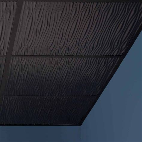 Black Drop Ceiling Tiles 2x2 by Genesis Ceiling Tile 2x2 Drifts Tile In Black