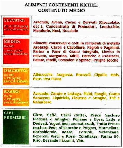 allergie nichel alimenti allergie e intolleranze alimentari facciamo un po di