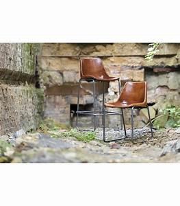 Tabouret De Bar En Metal : tabouret haut de bar vintage en m tal et cuir camel ~ Teatrodelosmanantiales.com Idées de Décoration