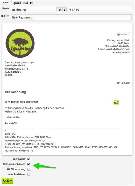 rechnungen als  mail anhang aus der hotelsoftware verschicken