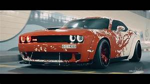 BLOOD SPLATTER Liberty Walk Wide Body Dodge Hellcat