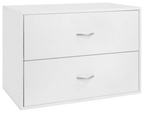 organized living freedomrail big o box 2 drawer unit