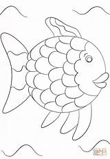 Fish Rainbow Template Coloring Printable Pages Popular sketch template