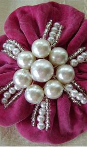 Pink & Pearls Pin Brooch by TilliesGifts on Etsy | Pink ...