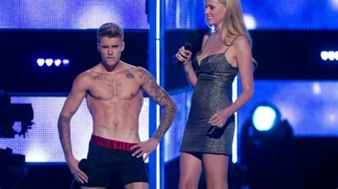 Justin Bieber Gets Naked On Stage Watch His Strip Show