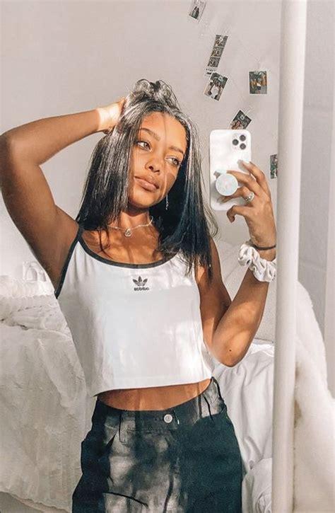 mirror selfie    pretty girl black girl natural hair brown skin girls