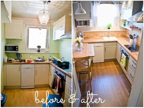 apron front sink small kitchen diy ideas before after remodel pictures