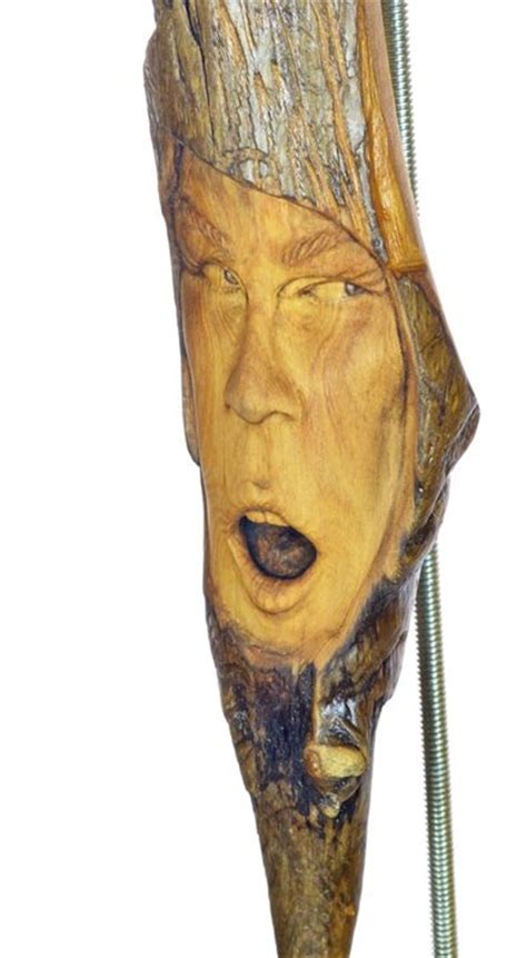 female wood spirit sculpture carving  josh carte