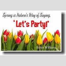 New Humor Poster Spring's Nature's Way Of Saying 'let's Party'  Robin Williams Ebay
