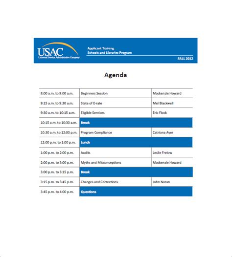 training agenda template for word training agenda template 8 free word excel pdf format