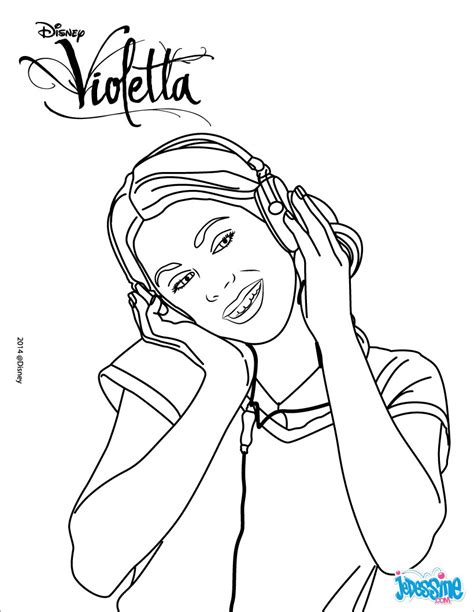 Coloriage Violetta Disney Channel à Imprimer