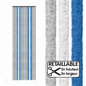 Rideau Gris Bleu : rideau de porte large xl gris bleu 205 x 70 cm camping car caravane ~ Teatrodelosmanantiales.com Idées de Décoration