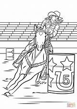 Barrel Coloring Horse Racing Pages Cowgirl Printable Rodeo Horses Barrels Racer Colouring Sheets Drawing Supercoloring Drawings Rider Adult Western Draw sketch template