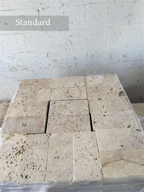 premium select vs standard grade travertine pavers