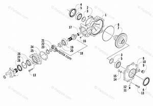 Arctic Cat Side By Side 2008 Oem Parts Diagram For Rear Drive Gearcase Assembly