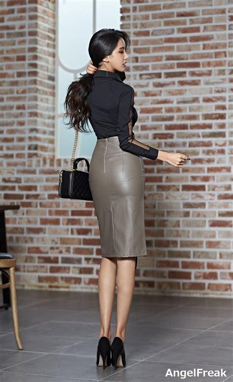Ju Woo レザースカート ファッション レディース ファッション